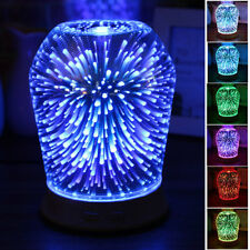 ☆ 3D LED Light Ultrasonic Aromatherapy Essential Oil Diffuser Humidifier Decor