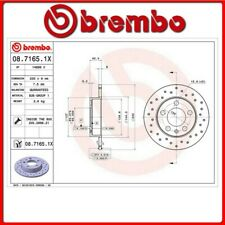 08.7165.1X#450 DISCO FRENO POSTERIORE SPORTIVO BREMBO XTRA VW POLO (9N_) 1.4 TDI