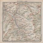 1923 ANTIQUE MAP-SWITZERLAND-ENVIRONS OF LENK