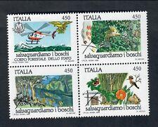 ITALIA 1984 salvaguardia della natura 450 lire x 4 blocco NUOVI ** fra.960