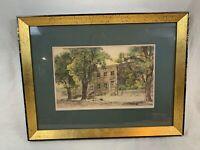 Fagin Mercier Artist Print Etching American Homestead Pencil Signed - 20