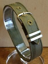 "1940's USA MILITARY ISSUE Watch BAND Strap-1 PC WWII World War 2 NOS 9/16"" BRITE"