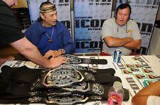 Jimmy Snuka Signed WWE ECW World Championship Title Belt PSA/DNA COA Autograph