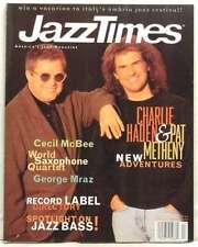 JAZZ TIMES MAGAZINE CHARLIE HADEN PAT METHENY GEORGE MRAZ CECIL MCBEE VERY RARE!