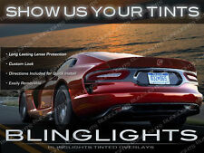 Dodge Viper Tinted Taillamps Overlays Pair Smoked Taillights Protection Film Kit