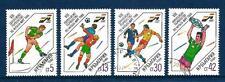 Football Bulgarie (70) série complète 4 timbres oblitérés