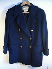 "Jaeger Navy Blue Cashmere Wool Blazer.Gold Feature Buttons.Lined. 34"" Bust.UK 10"