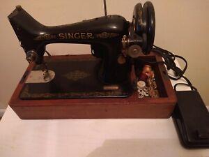 Singer Sewing Machine &  Bentwood Case