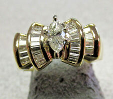 High Quality 1.00ctw Marquise  Diamond Engagement Ring  14k Gold  Size 7
