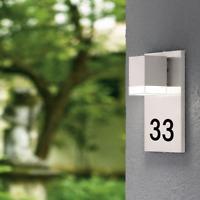 Hausnummernleuchte Wandleuchte Lampe mit Hausnummer Außen Hausnummer beleuchtet