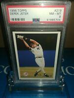 1996 Topps #219 Derek Jeter Future Star Rookie PSA 8 NM-MT ~N.Y Yankees 🔐 HOF🔥