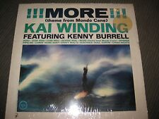 "New Sealed NOS KAI WINDING KENNY BURRELL ""MORE"" VERVE V-8551 Mono SURF Jazz LP"