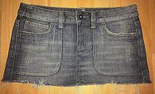 TOPSHOP Denim Mini Skirt Distressed Effect Micro Mini Blue Summer Size 10