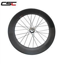 700c 88mm tubular carbon track Rear wheel only /carbon flip flop wheel