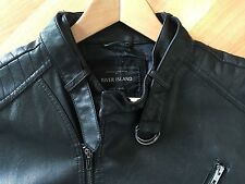 River Island Women's Leather Hip Length Zip Coats & Jackets