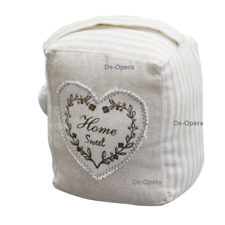 New 18cm Weighted Home Sweet Door Stopper Polyester A'la Maison