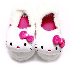 Niñas Hello Kitty Rosa Brillante Blanco Interior Zapatillas Niños Mist 3d Slipper