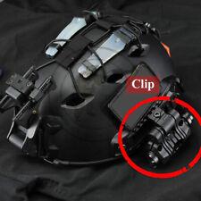 Tactical Quick Release Helmet Flashlight Mount Holder Clip Clamp Accessory Black