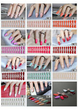24/1New False fake Nails Medium french airbrushed full nail art gel acrylic glue