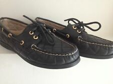 Women Shoes flat Sperry top sider Genuine leather size 6.5m color black