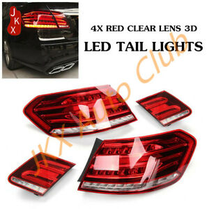 For Mercedes~Benz E~Class W212 4~Door Sedan 2014~16 j LED Taillights Rear Lights