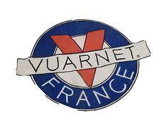 VINTAGE Large VUARNET France  Logo Sew-On Patch Badge Emblem