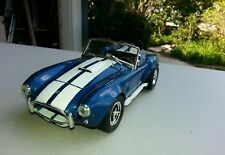 1/18 scale diecast muscle cars shellby cobra blue and white