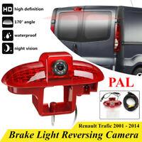 Car LED Brake Light Reverse Rear View Camera Kit For Renault Trafic 2001-14 PAL