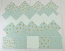 LIGHT MINT GREEN & GOLD GROUPING 4 Inch Quilting Squares