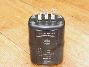WILLESDEN BLENHEIM OIL FILLED OUTPUT TRANSFORMER  150 OHM TO 600 OHM 1:1 RATIO