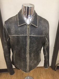 Wilsons Leather RN69426 Leather Jacket Size L Distressed