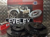 RANGE ROVER SPORT 3.6TDV8 BREMBO DRILLED & GROOVED  DISCS & BREMBO PADS FRONT