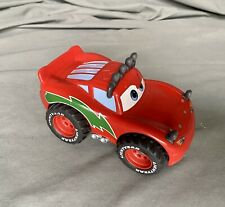 Mattel Rare LIGHTNING MCQUEEN Christmas Snow Shake n' Go Car Pixar WORKS Great