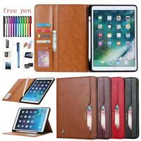 """For iPad Mini 1 2 3 4 5 Air Pro 9.7 2017 2018 10.5"""" PU Leather Wallet Case Cover"""