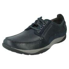 Calzado de hombre Zapatos informales con cordones de color principal azul de piel