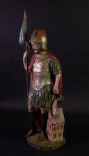 alte Schnitzfigur - HEILIGER FLORIAN - Holz geschnitzt & gefasst / bemalt