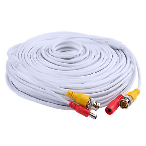 SANNCE 150ft 45m Security Camera Video Power Cable BNC RCA Wire for DVR CCTV