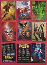 1993 MARVEL MASTERPIECE   Complete Your Set U pick 6 cards NM to Mint