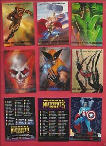 1993 MARVEL MASTERPIECES   Complete Your Set U pick 6 cards NM to Mint