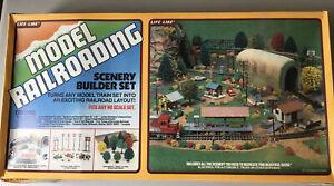 Vintage Life-Like Model Railroading Scenery Builder Set. New In Original Box HO