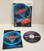 Disney Pixar Cars 2 The Video Game Nintendo Wii COMPLETE W/ Manual 2006 TESTED