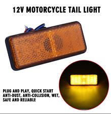 1x Yellow 24 LED Motorcycle Rear Brake Reflector Turn Light Car Side Marker Lamp