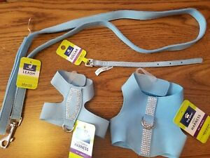 Top Paw Butterfly & Vest Harness, Collar, Leash Set XX SMALL Girth 10-11 in. NEW
