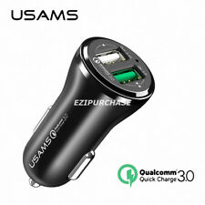 USAMS Universal 2 Dual USB Port Fast Quick Phone Car Charger QC3.0 Adapter S001
