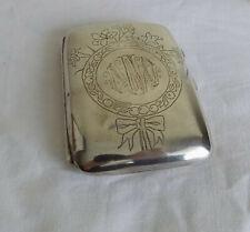 Beautiful Silver Engraved N W Cigarette / Card Case English Hallmarks 1897 61g