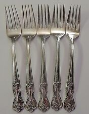 "5 Wm Rogers Magnolia Inspiration 6.75"" Forks Extra Plate Original Rogers Silver"