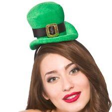 Ladies Leprechaun Fancy Dress Top Hat St Patricks Day Irish Topper Hat on Band