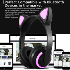 Girl Wireless Bluetooth LED Cat Ear Headphones Stereo Headset Gaming Music Gifts