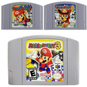 Mario Party 1 2 3 Video Game Cartridge Console Card For Nintendo N64 US Version
