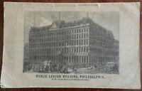 Philadelphia Public Ledger Building c. 1867 commemorative pamphlet